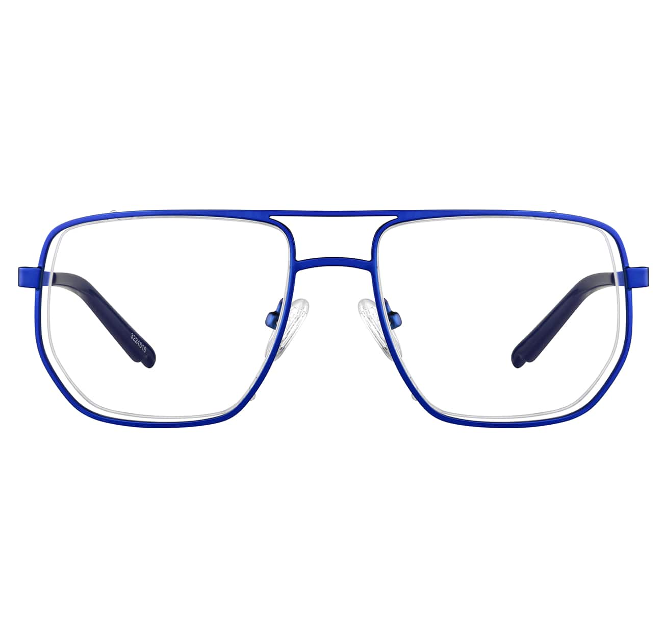 Image of Zenni blue aviator glasses #3224516 I am powerful