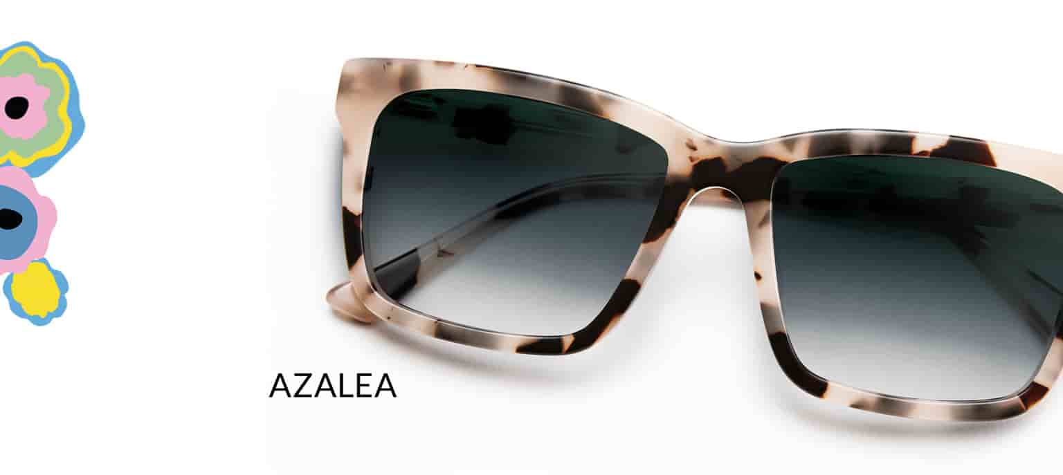 Zenni x Cynthia Rowley Collection Azalea frame #4446535 in ivory tortoiseshell shown with gradient gray tint.