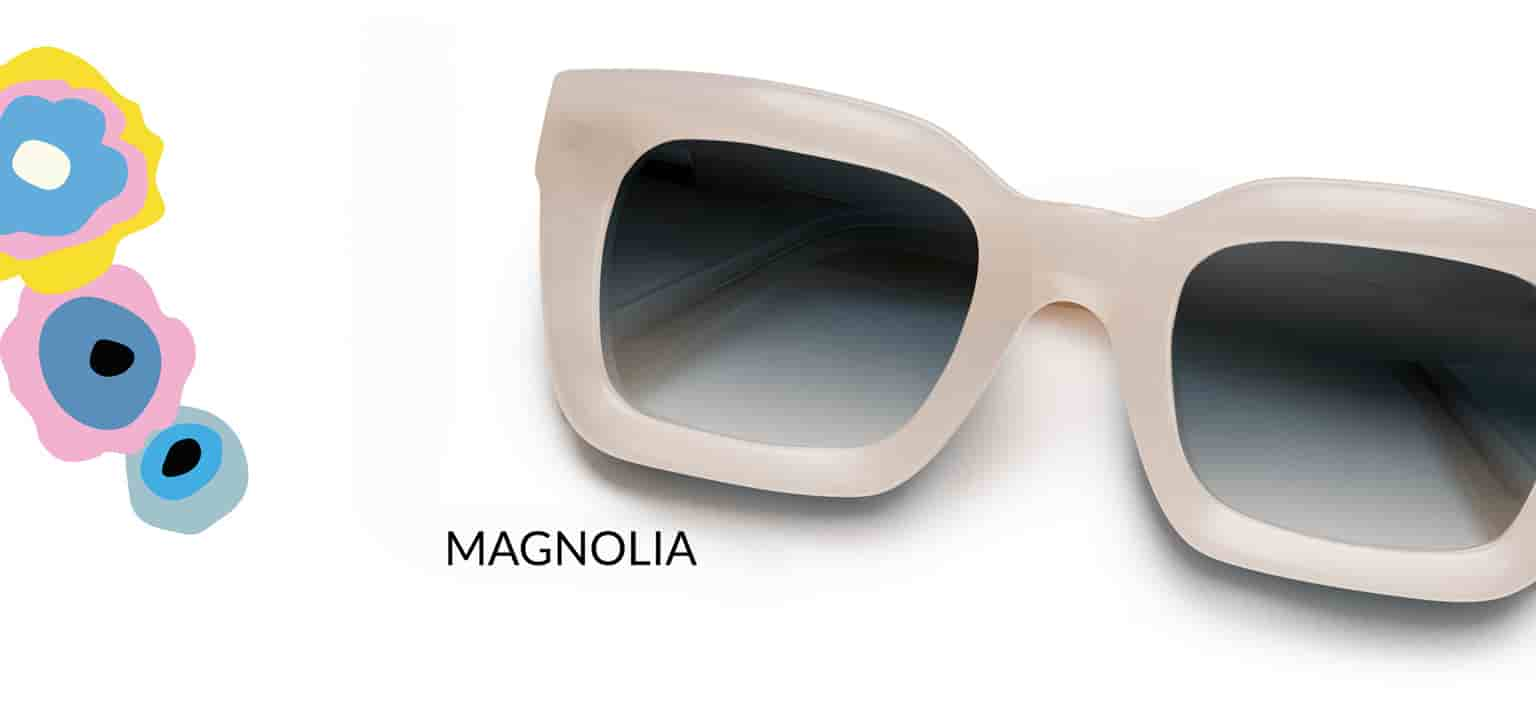 Zenni x Cynthia Rowley Collection Magnolia frame #4446733 in linen shown with gradient gray tint.