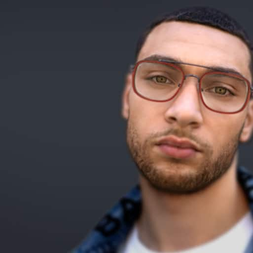 Zach LaVine of the Chicago Bulls wears rectangle glasses 7819942.