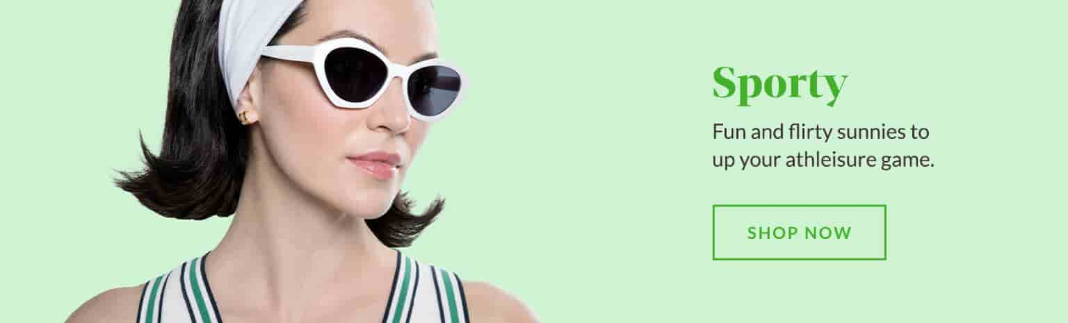 Fun and flirty sunnies to up your athleisure game.