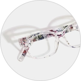 Zenni floral cat-eye glasses 2018723.