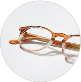 Zenni brown two-tone round glasses 4422415.