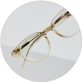 Zenni clear oval glasses 125922.