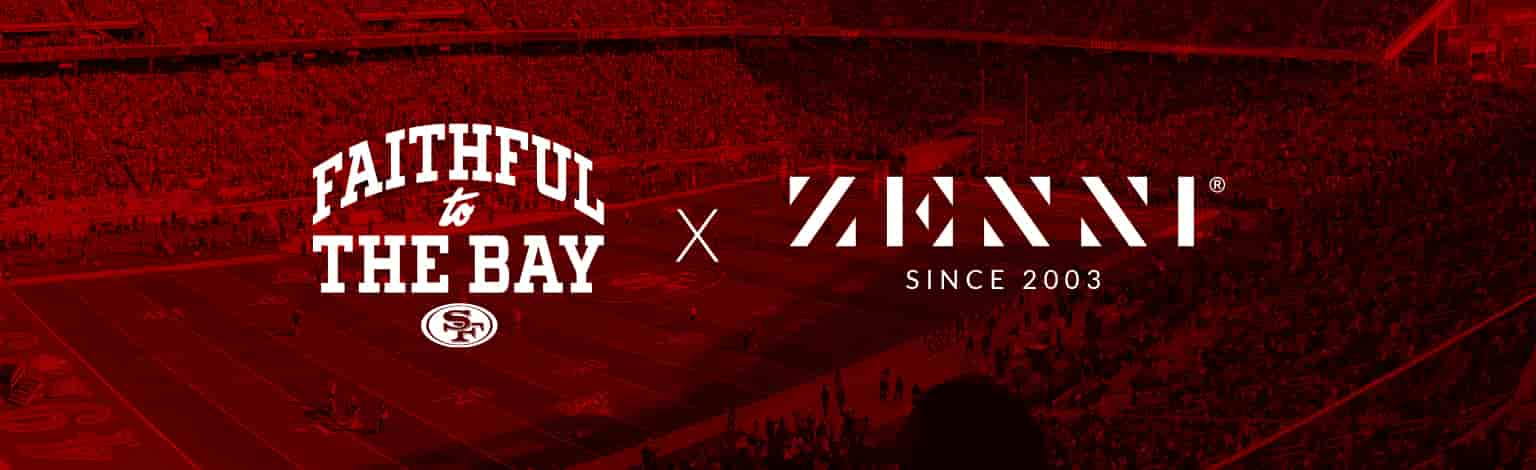 Faithful to the bay SF. Zenni since 2003. Image or a football stadium.