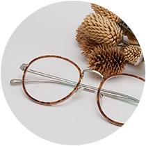 Round glasses #7814325 in tortoiseshell.