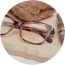 Brown stripe cat-eye glasses #2028417.