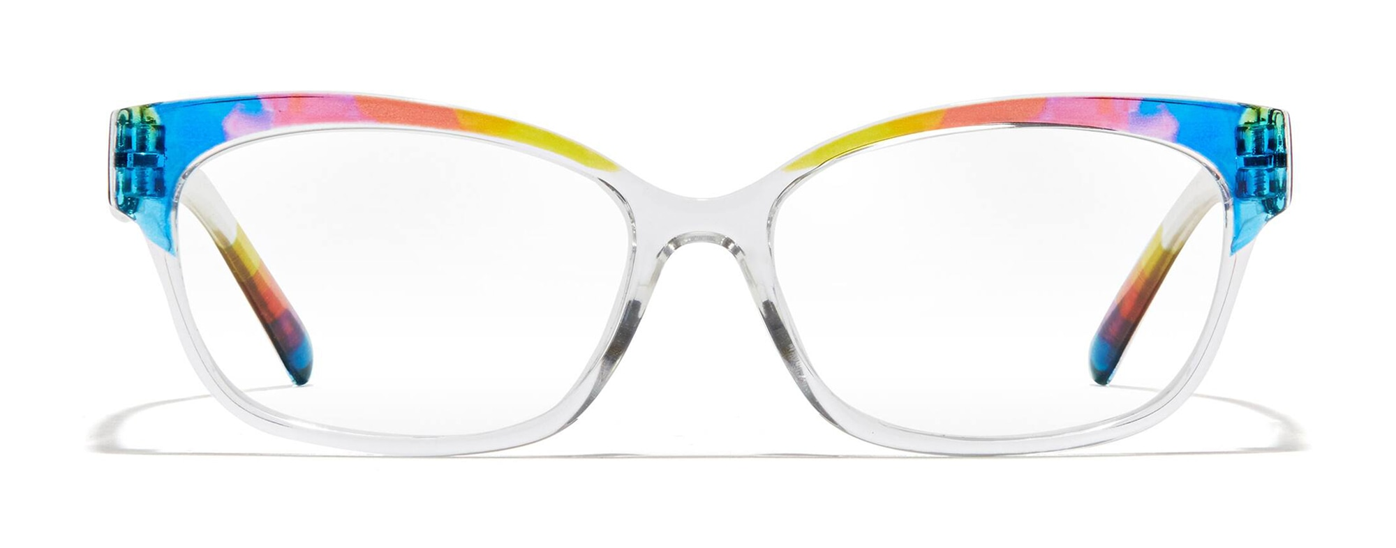 Front view of Cat-Eye Glasses in rainbow #2023729
