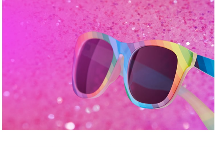 Limited-edition Pride eyewear.