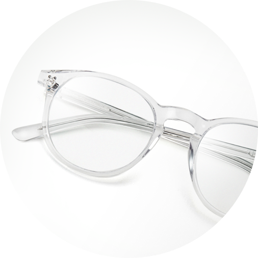Translucent round glasses #4422423 on a white background.