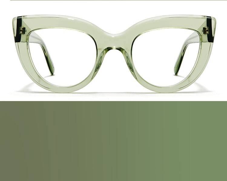 Zenni cat-eye glasses #4412624 on a white background.