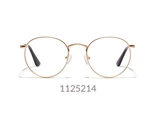 Sepulveda round glasses from the LA Collection are made with gold-toned metal.
