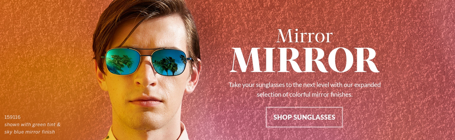 Add a mirror finish at checkout for next-level sunglasses.