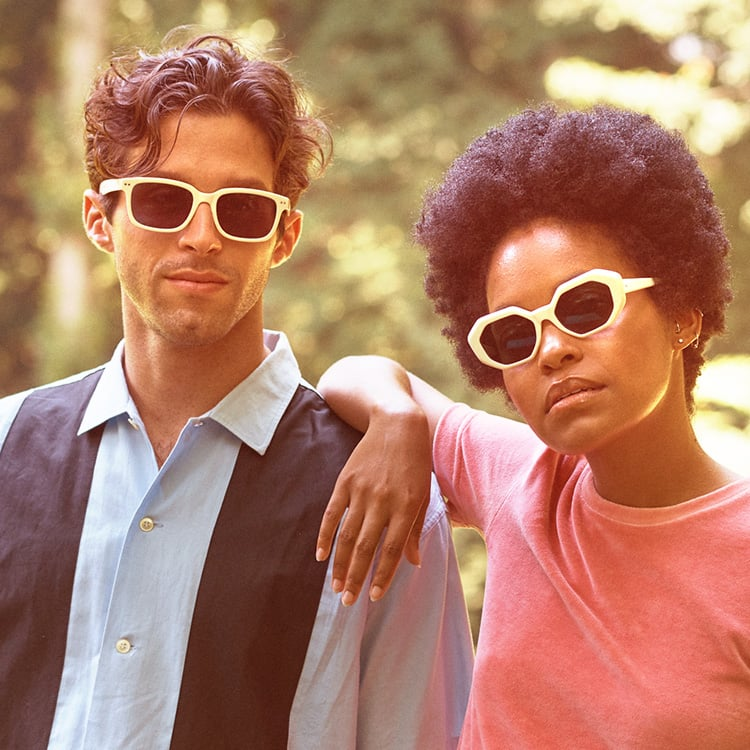 A couple enjoying their free time wearing zenni glasses
