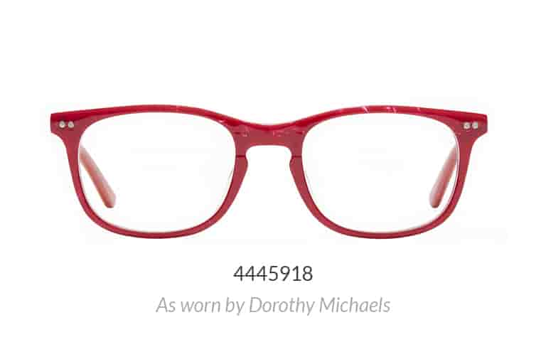 Tootsie Red rectangle Glasses #4445918