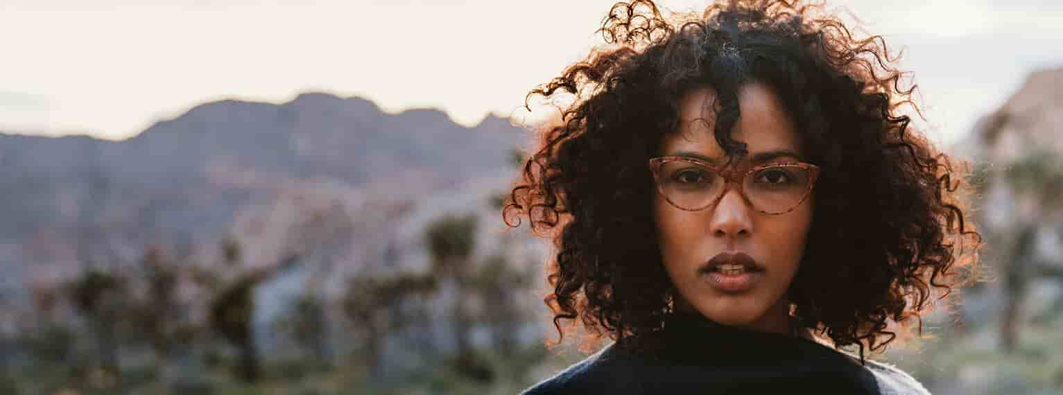 Shop Zenni cat-eye glasses, be a part of the beautiful scenery in the desert