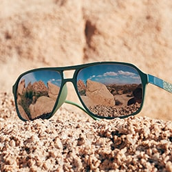 Desert Collection Zenni glasses on the hill