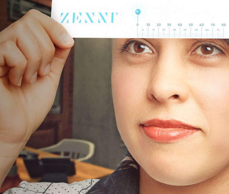 Measure your pupillary distance (PD) before buying Zenni prescription glasses and sunglasses online