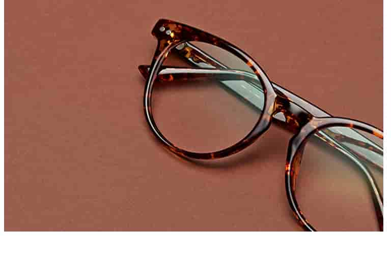 Stylish and affordable tortoiseshell round glasses #208425.