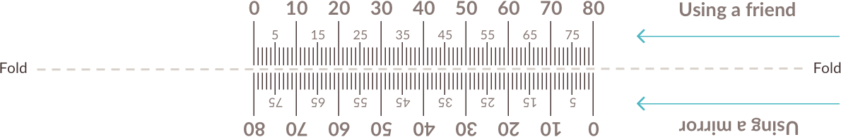 Example of printable PD ruler.