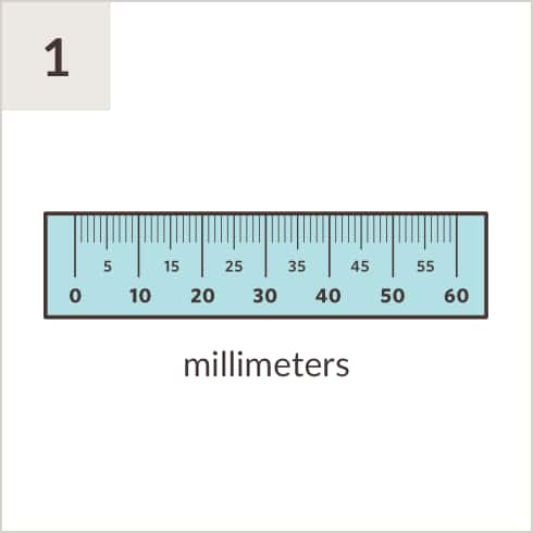 graphic relating to Printable Ruler Millimeters identify Pupillary Length Ruler Zenni Optical