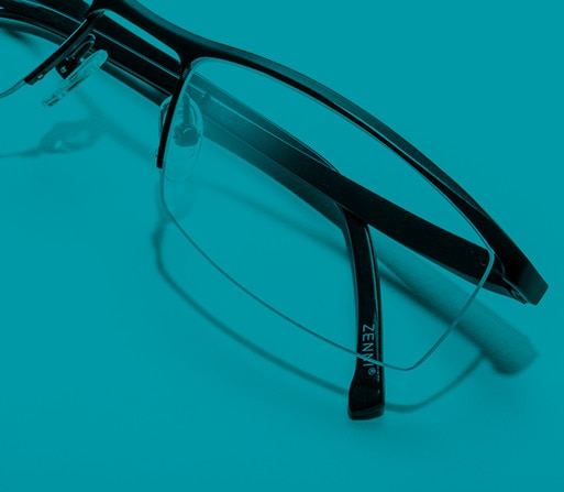 Shop Zenni half-rim glasses, they match with any style