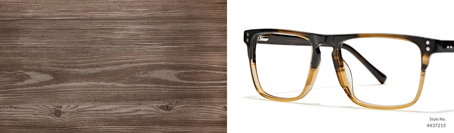 Image of Zenni brown two-tone square glasses #4437215.