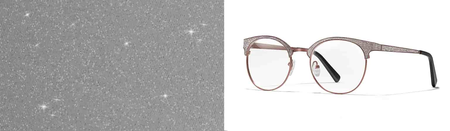 Sophisticated shimmery browline round glasses #3218715