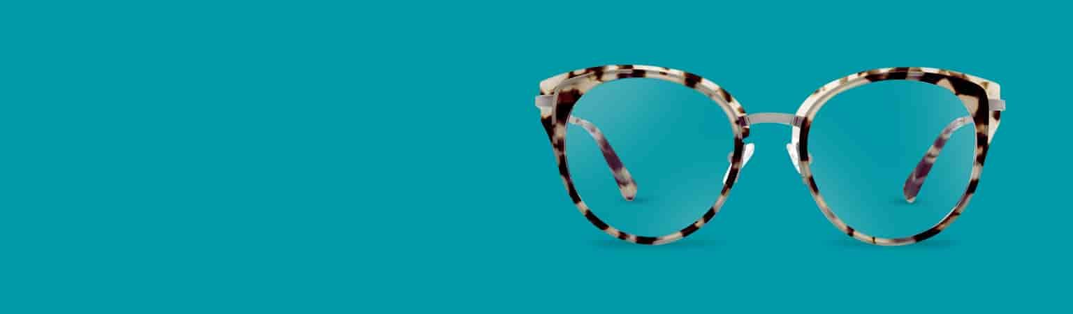 Ivory tortoiseshell cat-eye glasses #7819335.