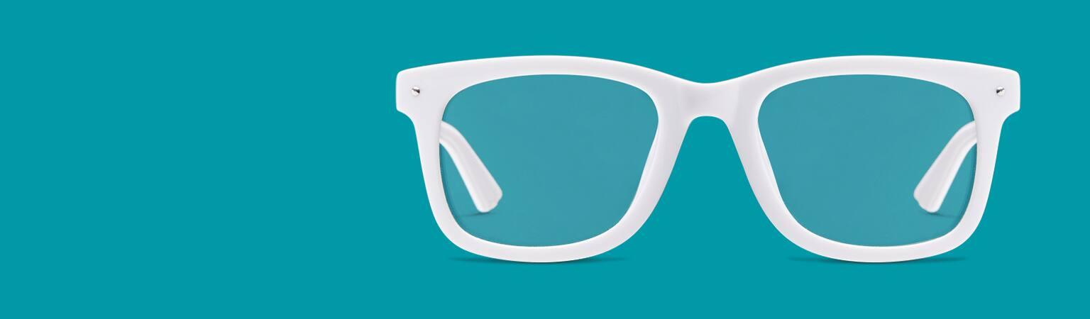 830d6049336 White Frame Glasses