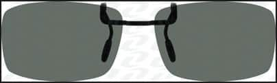 Zenni Sunglass Clip On Gray