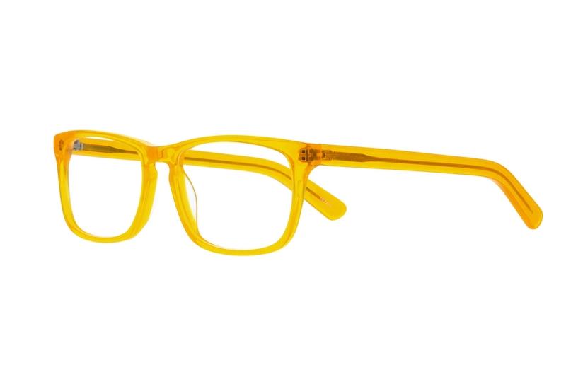Orange Square Acetate Eyeglasses #102222