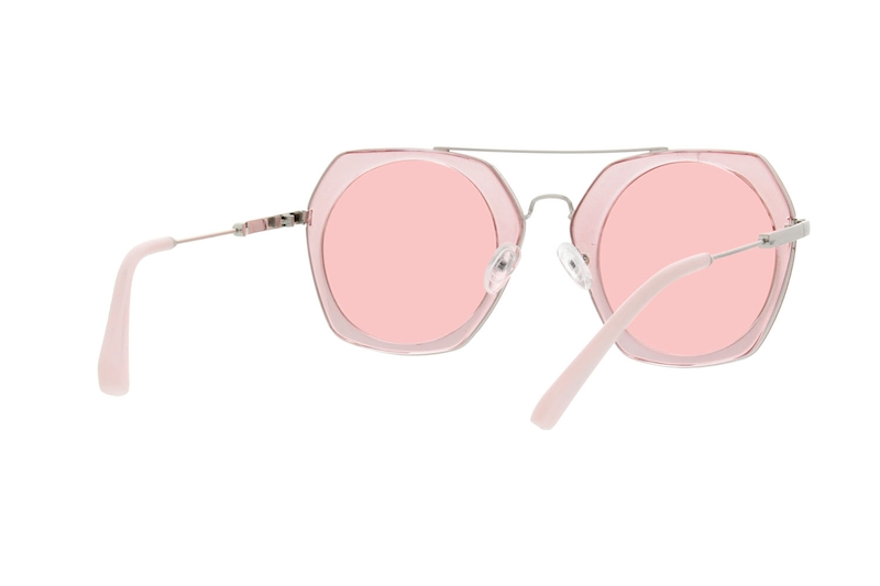 a187d7b062 Pink Premium Geometric Sunglasses  1133019