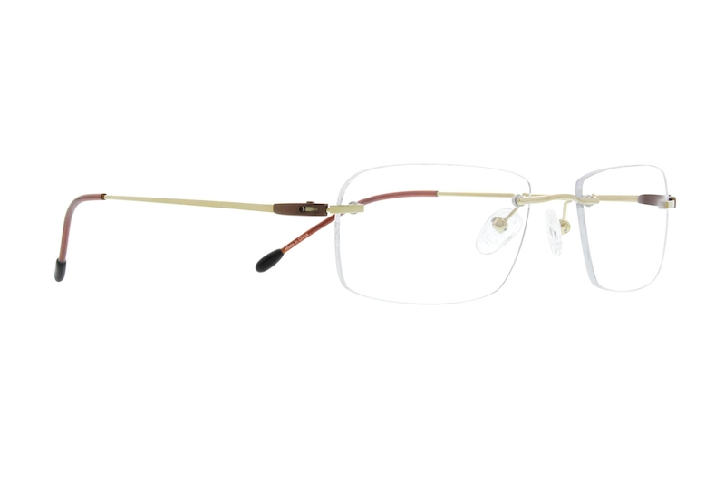 Gold Rimless Titanium Eyeglasses #133714