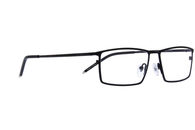 3b4490e33d Black Titanium Rectangle Glasses  137021