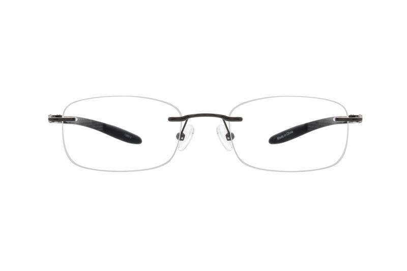 7eb796ab68 Gray Titanium Rimless Glasses  138512