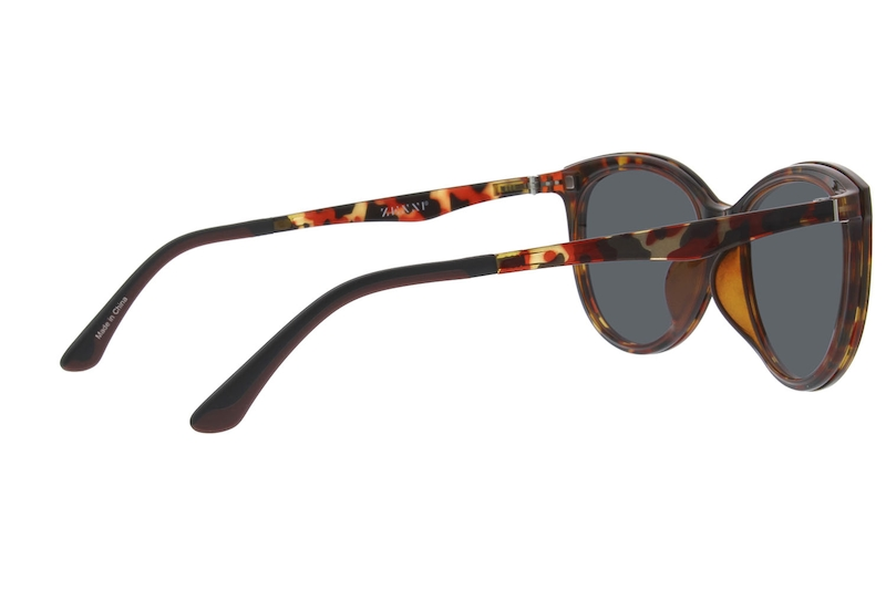 8d6db02c6f Tortoiseshell Cat-Eye Glasses with Magnetic Snap-on Shades  640325