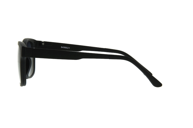 b65ff743fc149 Black Square Eyeglasses with Magnetic Snap-On Shades  6499021