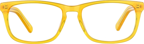 Orange Square Glasses