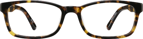 Tortoiseshell Rectangle Glasses