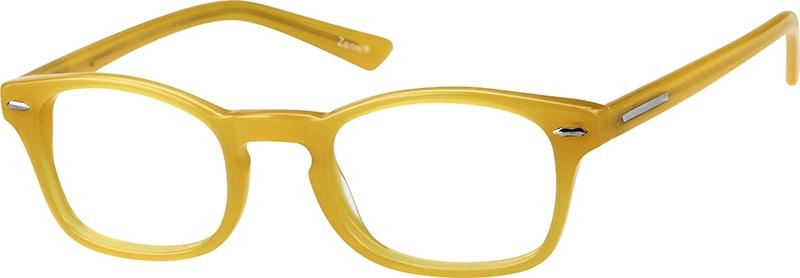 sku 104522 eyeglasses angle view - Yellow Eyeglass Frames