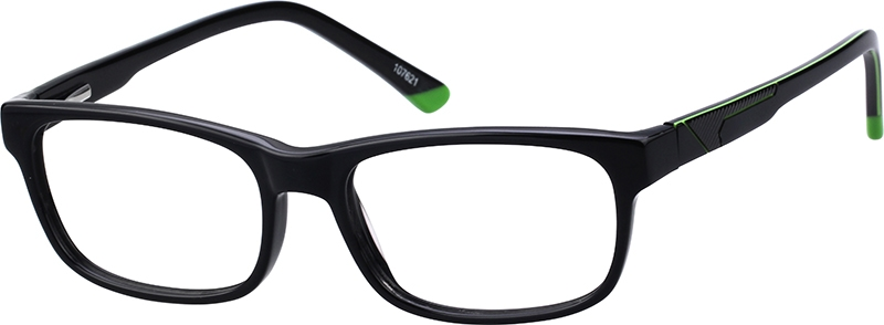803f7a95e11 Black Rectangle Glasses  107621
