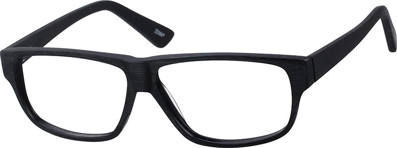 4dca3440d0d Black Rectangle Glasses  109421