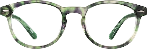 Green Tortoisehell Round Glasses