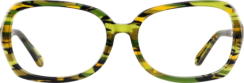 Multicolor Oval Glasses