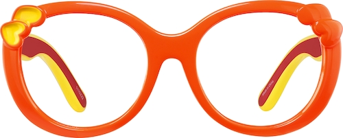 Orange Kids' Oval Glasses