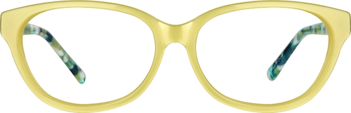 Yellow Cat-Eye Glasses