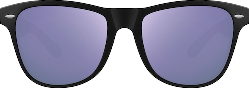 Black Figueroa Square Sunglasses