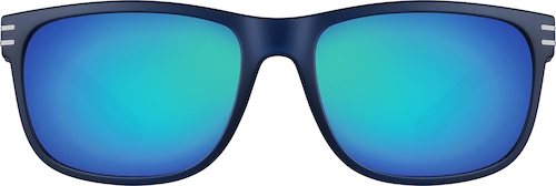 Blue Premium Rectangle Sunglasses
