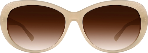 Cream Premium Oval Sunglasses